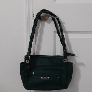 Forest green Rosetti bag